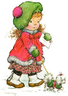 Betsey Clark, Holly Hobbie, Sarah Kay e outros Sarah Key, Holly Hobbie, Christmas Pictures, Christmas Art, Vintage Christmas, Mary Christmas, Christmas Colors, Sara Key Imagenes, Mary May