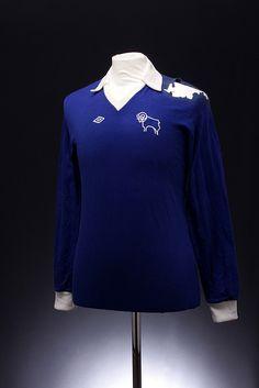 Derby County Football Shirt away) Classic Football Shirts, Retro Football, Soccer Kits, Football Kits, Football Jerseys, Football Players, British Football, Football Images, Derby County
