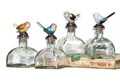 Chipper Bird Bottles, Asst. of 4
