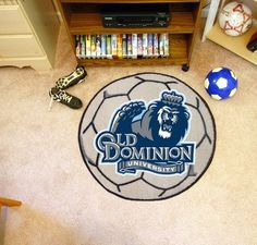 Old Dominion ODU Monarchs Soccer Ball Shaped Area Rug Welcome/Bath Mat