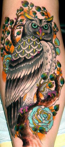Owl Tattoo. Fucking beautiful.
