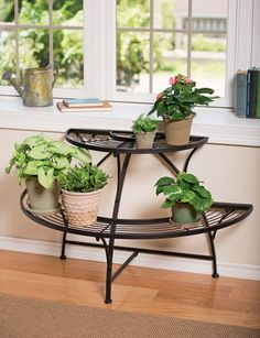 Glass and Metal Branch Plant Stand Brings the Outdoors In