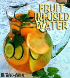 FRUIT INFUSED WATER | South African Recipes