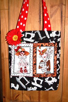 "This FUN bag made with ""sew Creative"" fabric! :)"