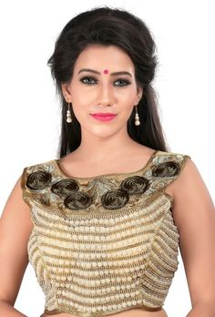 Beautiful Designer Handwork Blouse By Indian Vogue - Indian Vogue Saree blouse