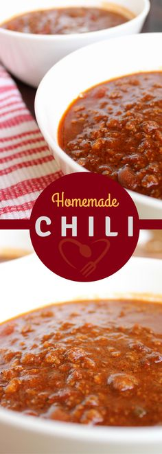 Easy homemade chili recipe. This chili recipe will help warm you on cold nights.