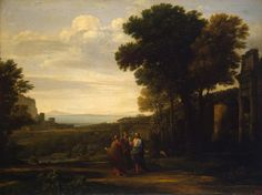 Claude Gellee, paintings - Landscape with Christ on the Road to Emmaus