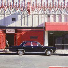 "Greg Gandy ""1967 Plymouth Valiant"" - 12x12, oil on panel - at Principle Gallery"