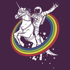 rainbow circle space unicorn