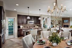 Inland Empire, CA  #MyLennarDreamKitchen Love the flooring, the openness to the other areas. Like the glass door pantry.