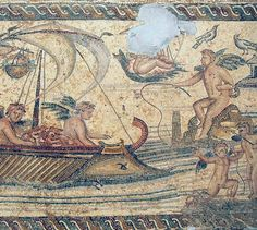 Villa of the Nile Mosaic, first mosaic , by Marco Prins. Ancient Rome, Ancient Art, Romans 2, Minoan, North Africa, National Museum, Roman Empire, Antique Art, Mosaic Art