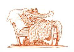 Chris Sanders  http://1.bp.blogspot.com/_pP-UccOwGxg/TGJLoWnb2RI/AAAAAAAACLo/QSP-7FFQj9M/s1600/Crocodileweb.jpg