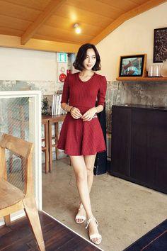 Flared Knit Dress
