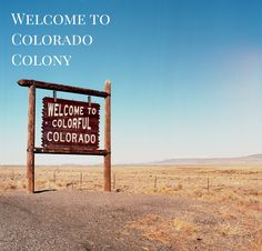 Welcome to Colorado Colony! Who else gets excited every time they pass this sign??? 😍 . . . #ColoradoColony #Colorado #CO #PicOfTheDay #Mountain #USA #Landscape #Photography #Nature #Hike #Hiking #Earth #Mtn #Plains