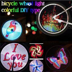 Vendita calda 64led colorato programmabile della bicicletta luce ruota di visualizzare i modelli lampada da diy designer cavo ricaricabile usb