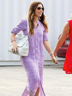 Star Tracks: Wednesday, July 16, 2014 | PURPLE HEART | Jessica Biel looks lovely (not to mention comfy!) in a lavender dress while heading to a studio in Los Angeles on Tuesday.
