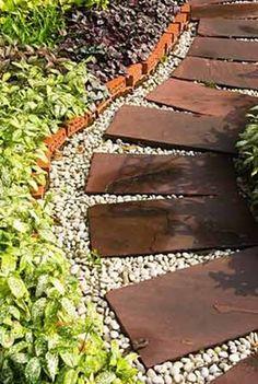 1000 images about patio on pinterest pergolas garden for Camino de piedras para jardin