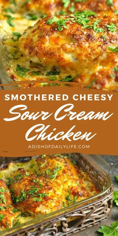 Sour Cream Chicken, Lemon Chicken Pasta, Balsamic Chicken, Cheesy Baked Chicken, Easy Chicken Dishes, Smothered Chicken Recipes, Great Chicken Recipes, Chicken Ideas, Baked Chicken Breast