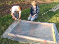 How to Build an Inexpensive Hoop-Style Greenhouse Diy Greenhouse Plans, Greenhouse Farming, Homemade Greenhouse, Large Greenhouse, Home Greenhouse, Hydroponic Gardening, Organic Gardening, Old Wood Windows, Serre Tunnel