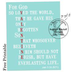 John 3:16 -- Valentine's printable