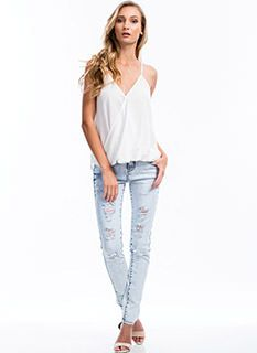 High-Waisted Jeans, Skinny Jeans, Distressed Acid Wash Jeans & Jeggings | GoJane Clothes