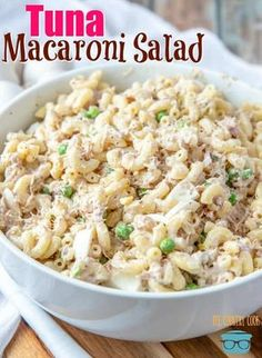 Tuna Macaroni Salad recipe from The Country Cook salad salad salad recipes grillen rezepte zum grillen Seafood Recipes, Pasta Recipes, Dinner Recipes, Recipe Pasta, Tuna Salad Recipes, Tomato Recipe, Tuna Salad Recipe With Noodles, Easy Mac Salad Recipe, Can Tuna Recipes