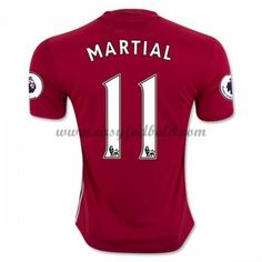 Fodboldtrøjer Premier League Manchester United 2016-17 Martial 9 Hjemmetrøje