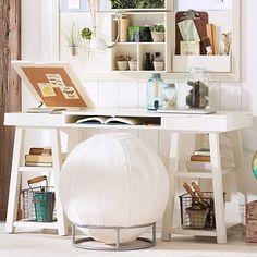 Trestle Desk   PB Teen Trestle Desk   Trestle table desk