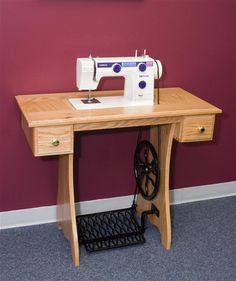 Want a new treadle sewing machine?  They still make them!  Lehman's - Treadle Sewing Machine with Oak Cabinet