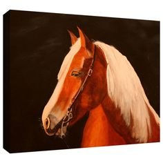 """Found it at Wayfair - """"Horse Painted"""" by Lindsey Janich Gallery Wrapped on Canvas http://www.wayfair.com/daily-sales/p/Find-Your-Style%3A-Wall-Art-Under-%24100-%22Horse-Painted%22-by-Lindsey-Janich-Gallery-Wrapped-on-Canvas~ARWL3108~E14958.html?refid=SBP.rBAjD1KkpZifKW_BOzR3AkWo4JSaOEigg8cWqUFCQcg"""
