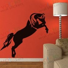 gratis verzending muurstickers groot-en detailhandel muur decor pvc materiaal stickers behang muurschildering dier paard m-410(China (Mainland))