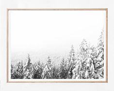 Printable Art and Wall Art Prints for Modern Living by MIRAMARART Snowy Trees, Nature Posters, Coastal Wall Art, Winter Landscape, Forest Landscape, Snow Scenes, Tree Print, Winter Photography, Winter Snow