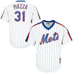 Mike Piazza New York Mets Majestic Cool Base Cooperstown Collection Player Jersey - White - $119.99