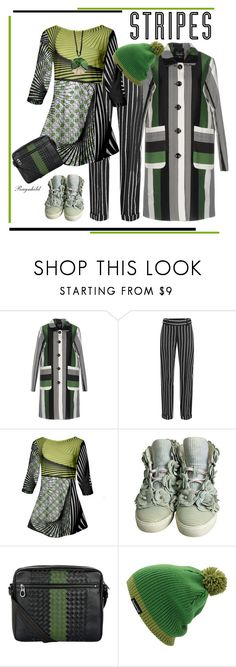 """Stripes"" by ragnh-mjos ❤ liked on Polyvore featuring Anonyme Designers, Haider Ackermann, Azalea, Chanel, Bottega Veneta and Anju"