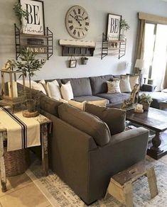 32 Modern Farmhouse Living Room Decor Ideas