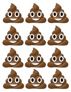 for Pin the Poop in the toilet 6th Birthday Parties, 10th Birthday, Birthday Ideas, Emoji Caca, Cupcake, Baby Shower Niño, Puppy Party, Baby Shower Printables, Party Time