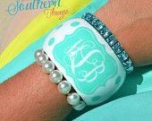 Monogrammed bracelet   Monogrammed bangle  Monogrammed Jewelry Sweet and Southern Things by SweetSouthernThing on Etsy