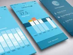 Health Fitness App Tracker designed by Florin Constantin.