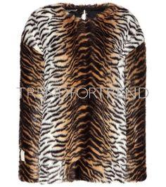Stella Mccartney Printed Faux Fur Sweater In Llack Tiger Skin, Stella Mccartney, Faux Fur, Women Wear, Street Style, Style Inspiration, Model, Sweaters, Prints