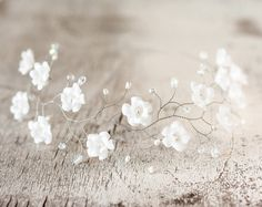 51_Wedding flower crown, White flower crown, Tiara flowers, Headpiece flower…