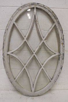 Columbus Architectural Salvage - Salvaged Oval Wood Window - would love something like this for kitchen Architectural Antiques, Architectural Features, Architectural Elements, Country Decor, Rustic Decor, Farmhouse Decor, Salvaged Decor, Vintage Windows, Wood Windows