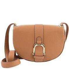 Sam Edelman Jeanne Half-Moon Leather Saddle Bag ($160) ❤ liked on Polyvore featuring bags, handbags, shoulder bags, saddle, leather saddle bag purse, shoulder strap handbags, beige leather handbag, leather saddle bags and leather shoulder bag