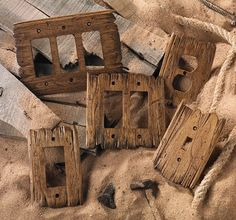 I hand-carve each Old West switch plate using tattered barn wood as a model. - I hand-carve each Old West switch plate using tattered barn wood as a model. No two are alike.