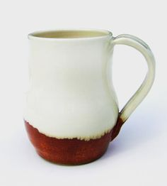 Brown & White Ceramic Coffee Mug by Stuck in the Mud Pottery on Scoutmob Shoppe