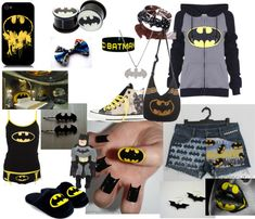 """batman outfit"" by movinmo ❤ liked on Polyvore"