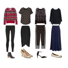 thanksgiving outfits for teens | Outfit 1& H&M Knit Sweater & &40 && LNA Bowie Lace-Paneled Stretch ...