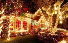 Decoración navideña al exterior de las casas .... directa de los Estados Unidos