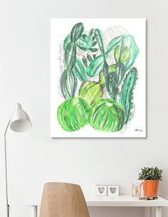 Discover «Cactusia», Limited Edition Aluminum Print by Sanziana Toma - From $99 - Curioos Aluminium Sheet, High Gloss, Things To Come, Tapestry, Posters, Illustration, Prints, Artwork, Design