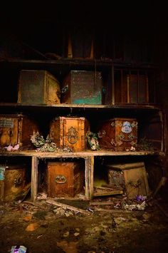 Abandoned coffins - and they are probably occupied!!!