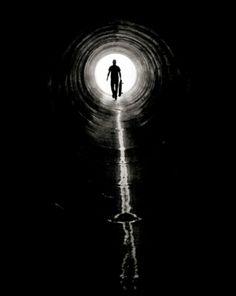 tunnel #skateboard #light #drain #blackwhite
